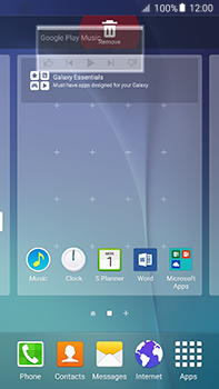 Samsung Galaxy A8 - Getting started - Installing widgets and applications on your start screen - Step 10