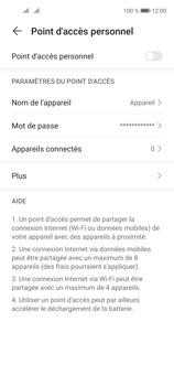 Huawei P40 Lite 5G - Internet et connexion - Partager votre connexion en Wi-Fi - Étape 9