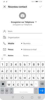 Huawei Y6P - Contact, Appels, SMS/MMS - Ajouter un contact - Étape 6