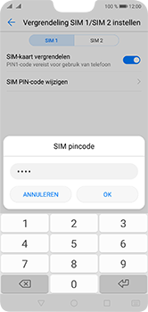 Huawei P20 Lite Dual-SIM (Model ANE-LX1) - Beveiliging en ouderlijk toezicht - Hoe wijzig ik mijn SIM PIN-code - Stap 13