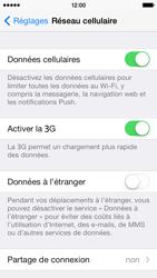 Apple iPhone 5 iOS 7 - Internet et roaming de données - Désactivation du roaming de données - Étape 5