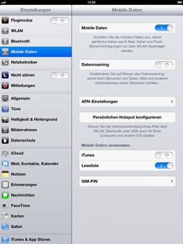 Apple iPad 4 - Ausland - Auslandskosten vermeiden - Schritt 7