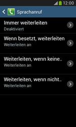 Samsung Galaxy Trend Plus - Anrufe - Rufumleitungen setzen und löschen - 9 / 12