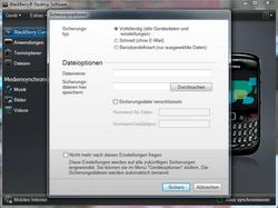 BlackBerry Bold Touch - Software - Sicherungskopie Ihrer Daten erstellen - 2 / 2