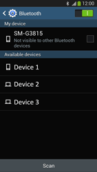 Samsung SM-G3815 Galaxy Express 2 - Bluetooth - Connecting devices - Step 6