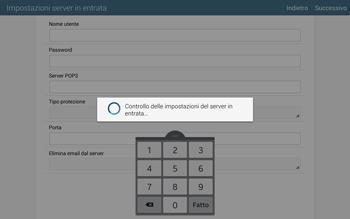 Samsung T805 Galaxy Tab S - E-mail - configurazione manuale - Fase 11