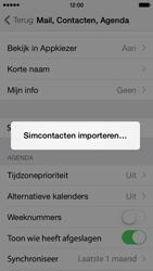 Apple iPhone 5c (Model A1507) met iOS 8 - Contacten en data - Contacten kopiëren van SIM naar toestel - Stap 5