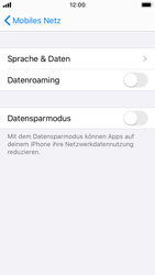 Apple iPhone SE - iOS 13 - Ausland - Auslandskosten vermeiden - Schritt 8