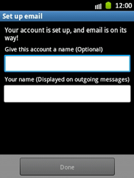 Samsung Galaxy Y - E-mail - Manual configuration - Step 15