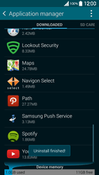 Samsung Galaxy S 5 - Applications - How to uninstall an app - Step 8