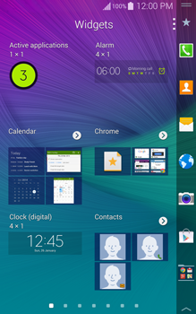 Samsung Galaxy Note Edge - Getting started - Installing widgets and applications on your start screen - Step 5
