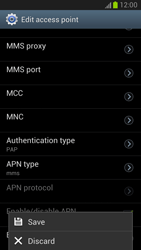 Samsung Galaxy Note II - MMS - Manual configuration - Step 14