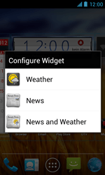ZTE Blade III - Getting started - Installing widgets and applications on your start screen - Step 6