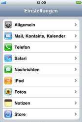 Apple iPhone 3G - Internet - Manuelle Konfiguration - Schritt 3