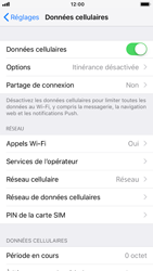 Apple iPhone 8 - iOS 12 - Internet et roaming de données - Comment vérifier que la connexion des données est activée - Étape 5