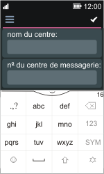 Nokia Asha 311 - SMS - Configuration manuelle - Étape 8