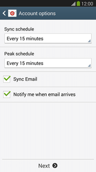 Samsung Galaxy Note III LTE - E-mail - manual configuration - Step 17