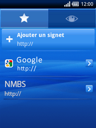 Sony Xperia X10 Mini - Internet - Navigation sur Internet - Étape 15