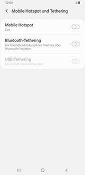 Samsung Galaxy S9 Plus - Android Pie - WiFi - So aktivieren Sie einen WLAN-Hotspot - Schritt 6
