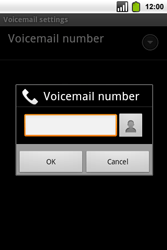 Alcatel OT-991 Smart - Voicemail - Manual configuration - Step 9