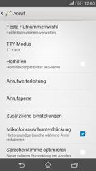 Sony E2003 Xperia E4G - Anrufe - Rufumleitungen setzen und löschen - Schritt 5