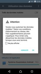 Sony Xperia X Compact - Internet et roaming de données - Comment vérifier que la connexion des données est activée - Étape 6