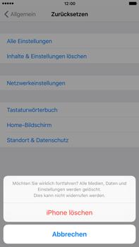 Apple iPhone 6 Plus mit iOS 9 - Fehlerbehebung - Handy zurücksetzen - Schritt 9