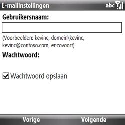 Samsung B7330 Omnia Pro - e-mail - handmatig instellen - stap 10