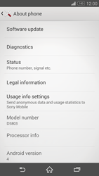 Sony Xperia Z3 Compact - Software - Installing software updates - Step 6