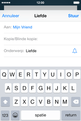 Apple iPhone 4S (iOS 8) - e-mail - hoe te versturen - stap 7