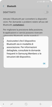 Samsung Galaxy Note9 - Bluetooth - Collegamento dei dispositivi - Fase 6