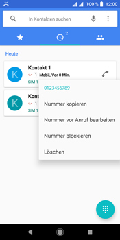 Sony Xperia L3 - Anrufe - Anrufe blockieren - Schritt 5
