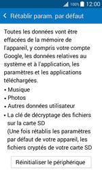 Samsung G388F Galaxy Xcover 3 - Téléphone mobile - réinitialisation de la configuration d