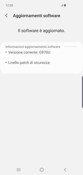 Samsung Galaxy S10e - Software - Installazione degli aggiornamenti software - Fase 7