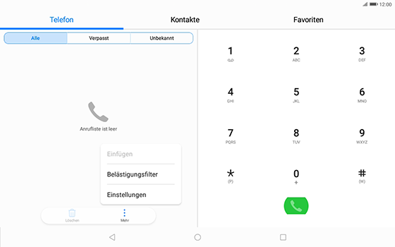 Huawei MediaPad T3 (10.0) LTE - Anrufe - Rufumleitungen setzen und löschen - Schritt 4