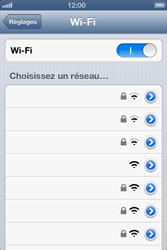 Apple iPhone 4 - WiFi - Configuration du WiFi - Étape 5