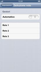 Apple iPhone 5 - Rete - selezione manuale della rete - Fase 7