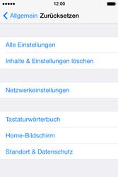 Apple iPhone 4S iOS 7 - Gerät - Zurücksetzen auf die Werkseinstellungen - Schritt 5