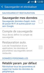 Samsung J100H Galaxy J1 - Appareil - Réinitialisation de la configuration d