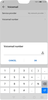 Huawei P20 Pro Android Pie - Voicemail - Manual configuration - Step 8