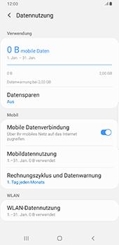 Samsung Galaxy Note9 - Android Pie - Internet und Datenroaming - Prüfen, ob Datenkonnektivität aktiviert ist - Schritt 7