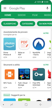 Samsung Galaxy S9 - Applicazioni - Come verificare la disponibilità di aggiornamenti per l