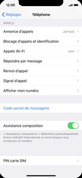 Apple iPhone X - Sécuriser votre mobile - Personnaliser le code PIN de votre carte SIM - Étape 4