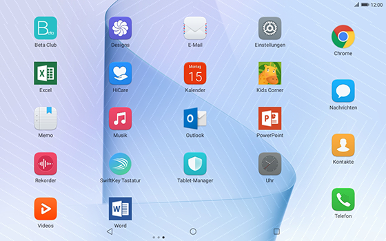 Huawei MediaPad T3 (10.0) LTE - E-Mail - Konto einrichten (outlook) - 3 / 11