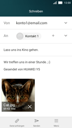 Huawei Y5 - E-Mail - E-Mail versenden - 14 / 16