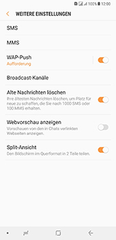 Samsung Galaxy A8 Plus (2018) - SMS - Manuelle Konfiguration - Schritt 7