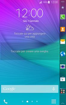 Samsung Galaxy Note Edge - Operazioni iniziali - Installazione di widget e applicazioni nella schermata iniziale - Fase 6