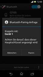 Sony Xperia L - Bluetooth - Geräte koppeln - 0 / 0