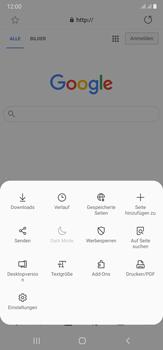 Samsung Galaxy Note 20 Ultra 5G - Internet und Datenroaming - Verwenden des Internets - Schritt 10