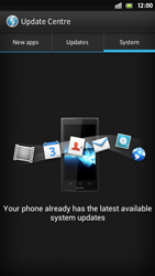 Sony Xperia S - Software - Installing software updates - Step 8